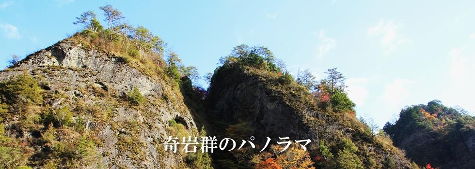 奇岩群のパノラマ