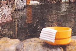 古岩屋温泉の天然石